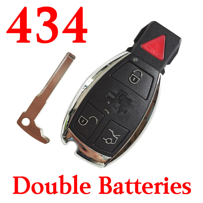 3+1 Buttons 434 MHz  BE Remote Key for Mercedes Benz - With Double Batteries