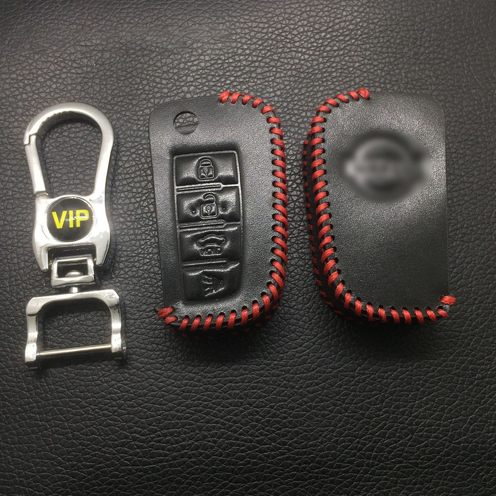 Leather Case for Nissan 4 Buttons Folding Car Key - 5 Sets