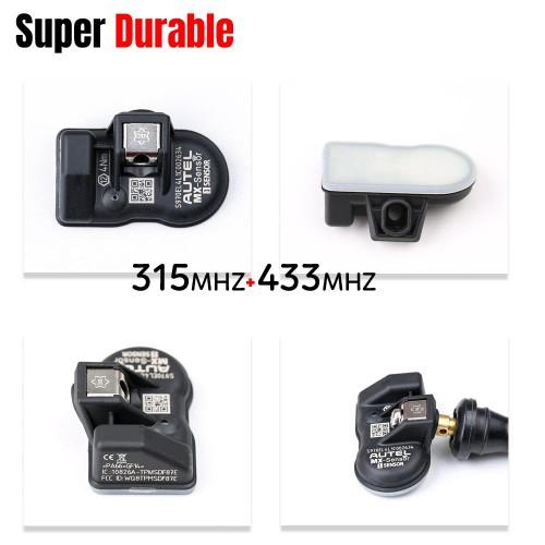 Autel MX-Sensor 433/315 MHZ 2 IN 1 TPMS Sensor Programmable Universal - Pack of 4