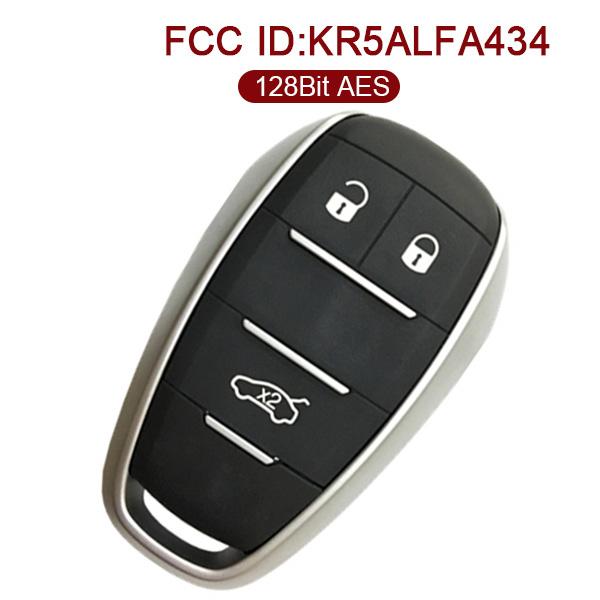 Original Alfa Romeo Smart Remote Key -  HITAG 128 Bit AES - KR5ALFA434
