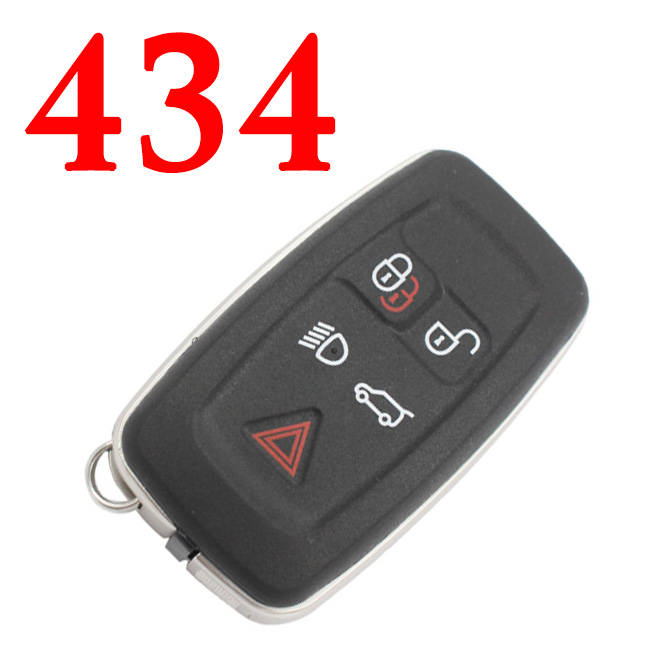 Smart Card Remote Key Fob 5 Button 433MHz with PCF7953 Chip for Range Rover AH42-15K601-BG