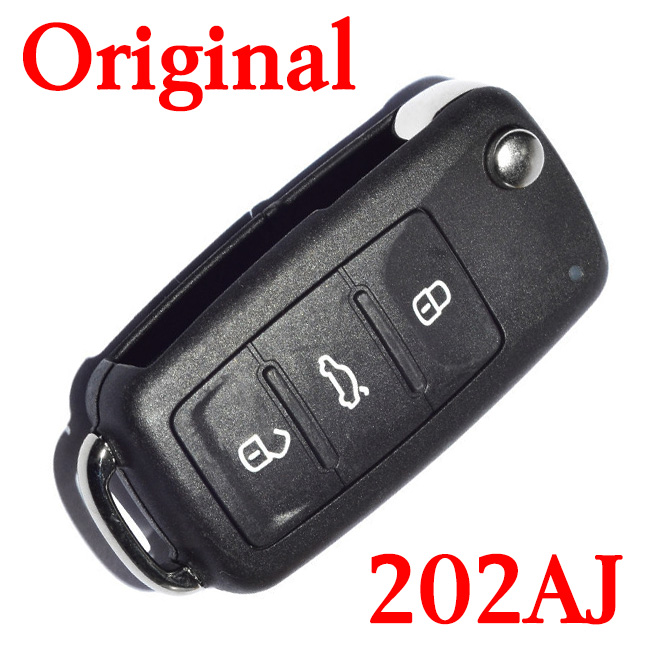 Original 3 Buttons 434 MHz Smart Proximity Key for VW New Bora Sagitar Touran - 5K0 837 202 AJ