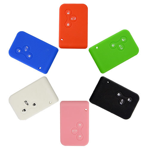 Silicone Cover for Renault Megane Car Keys - 5 Pieces