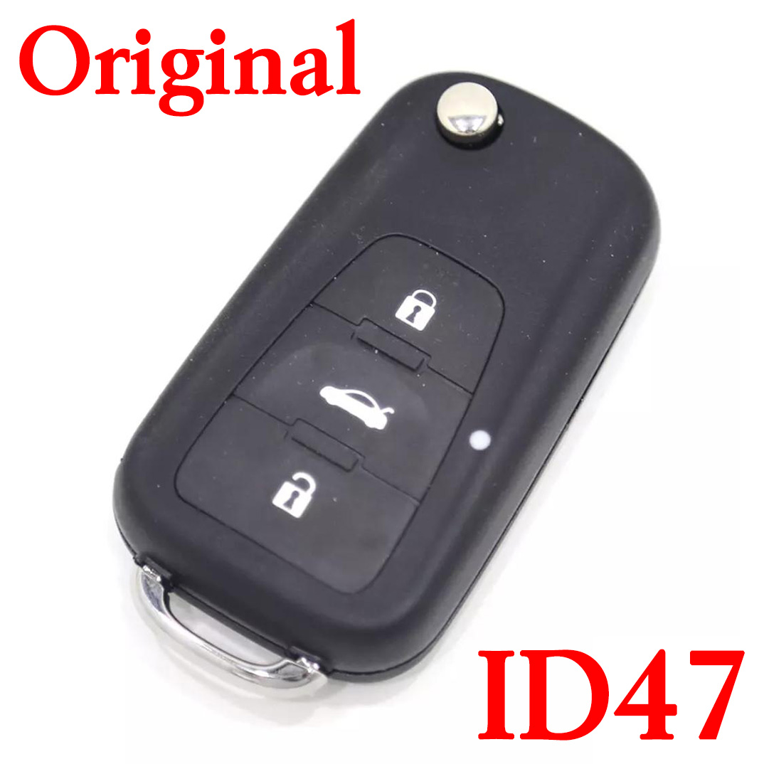 3 Buttons 433 MHz Original Flip Remote Key for MG - ID47