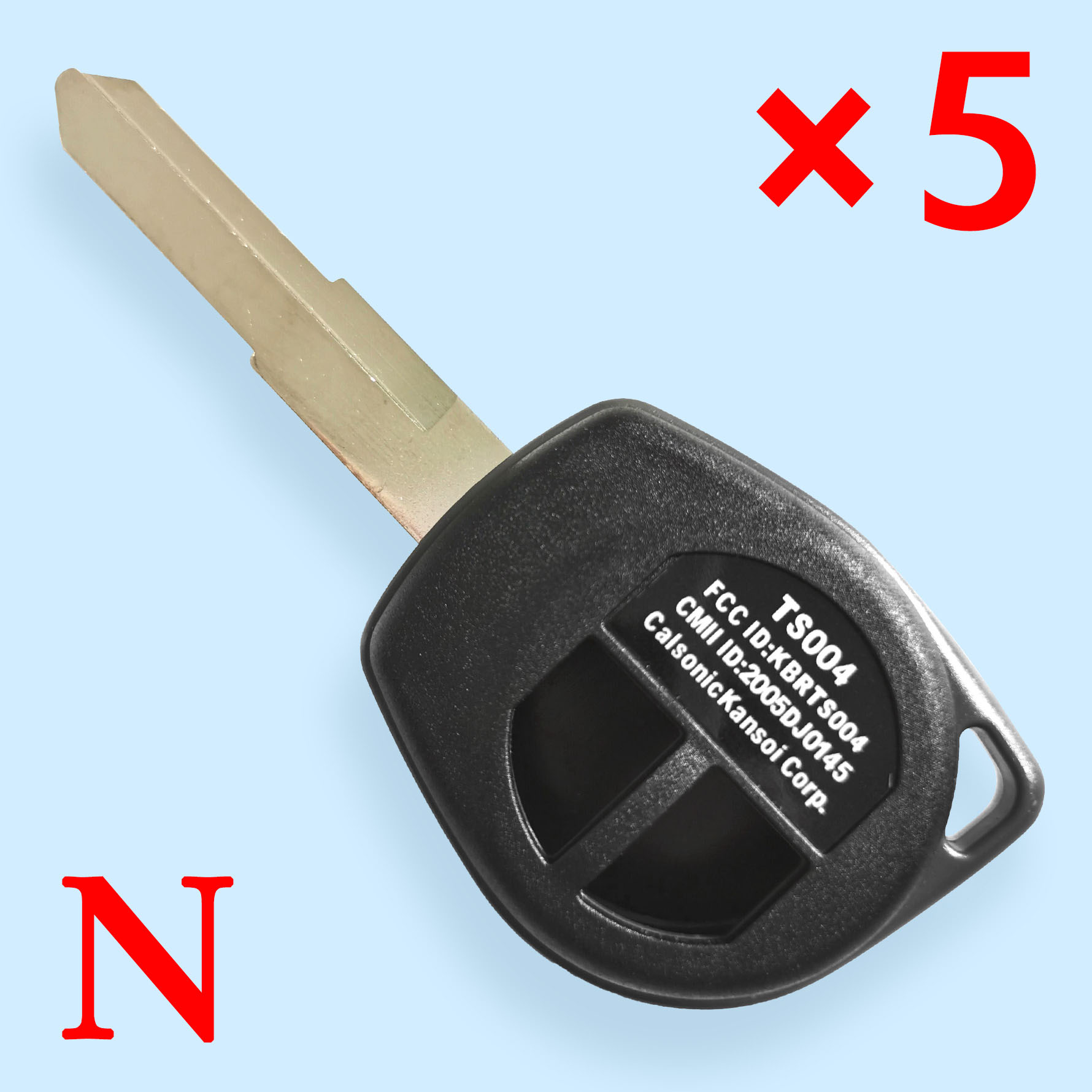 2 Buttons Key Shell for Suzuki - Pack of 5
