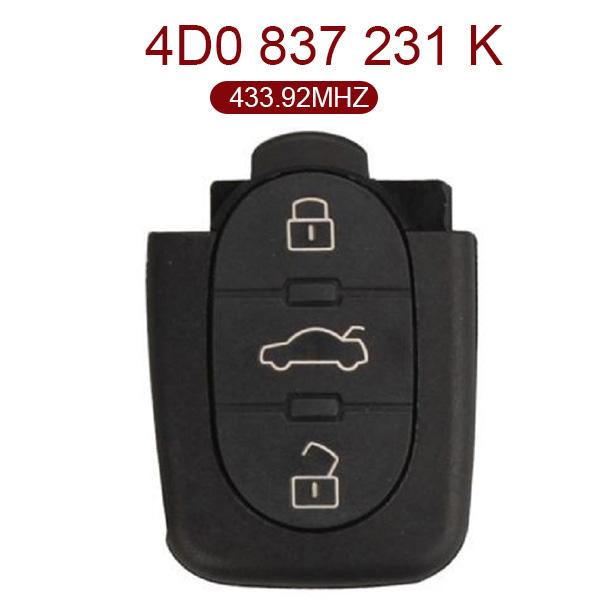 AK001061 for VW Remote Key 3 Button 433.92MHz 4D0 837 231 K
