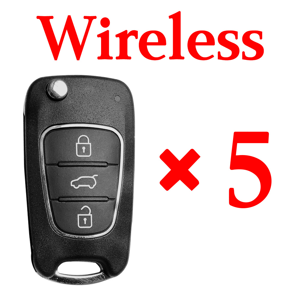 5 pieces Xhorse VVDI Hyundai Type 3 Wireless Universal Remote Control with Blade and Logos
