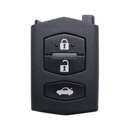 3 Buttons Flip Remote Key Shell Without Head for Mazda - Pack of 5