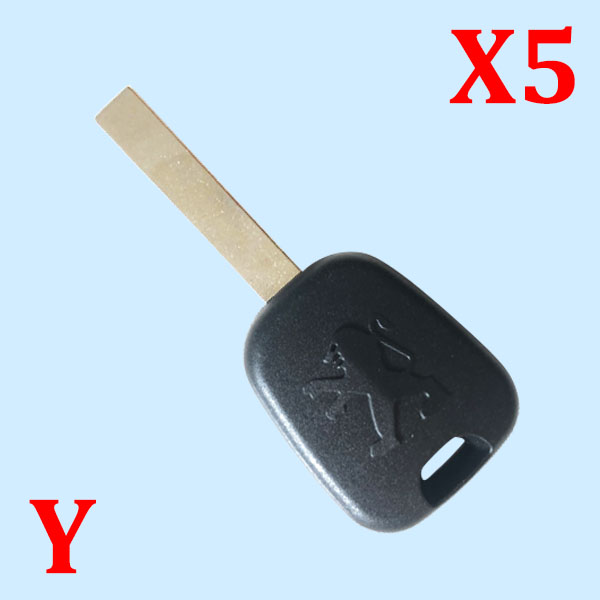 Key Shell With HU83 blade for Peugeot 5 pcs