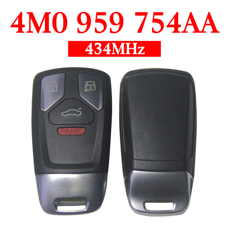 Original 3+1 Buttons 434 MHz Smart Proximity Key for Audi Q7 - 4M0 959 754AA