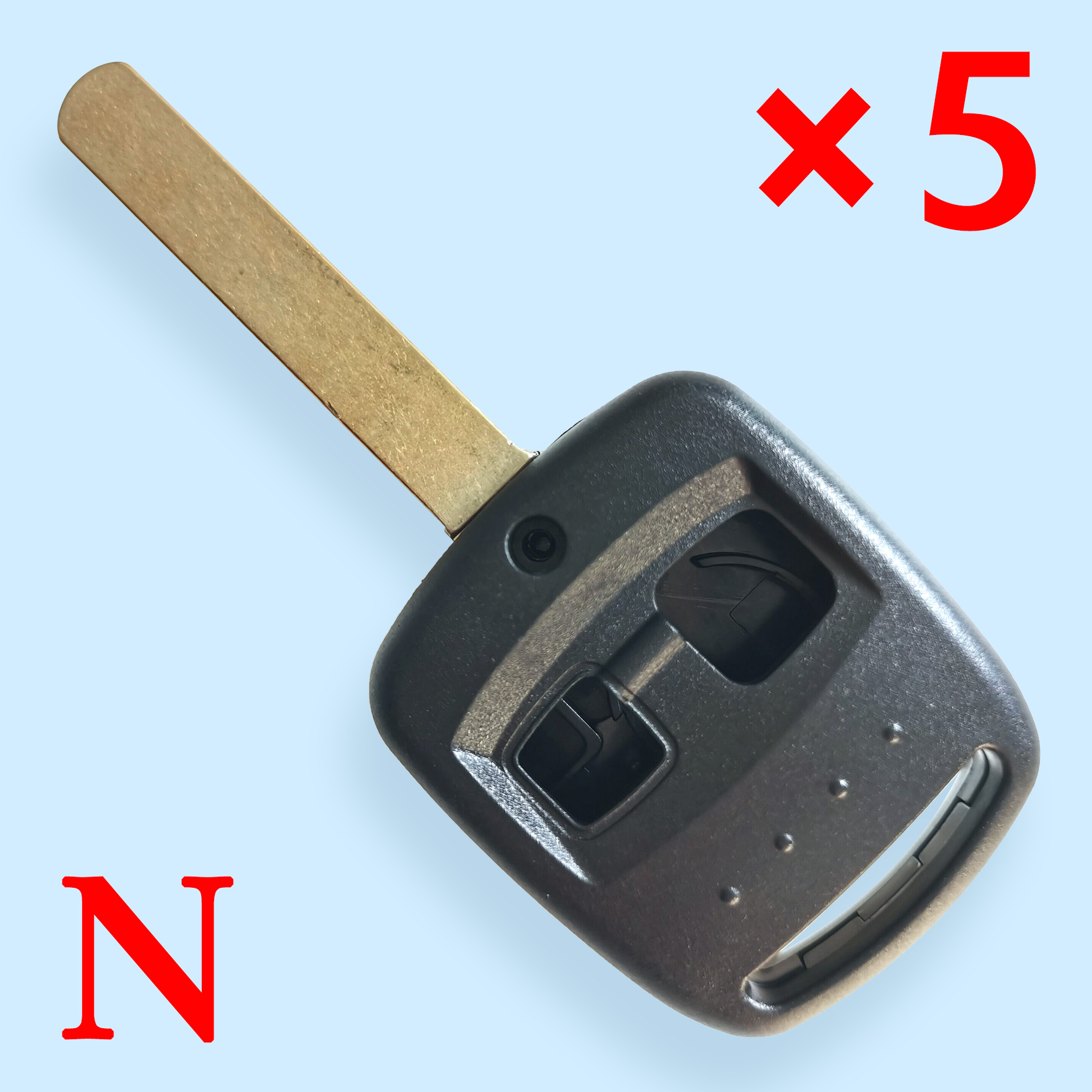 2 Buttons Laser Remote Key Shell for Subaru - Pack of 5