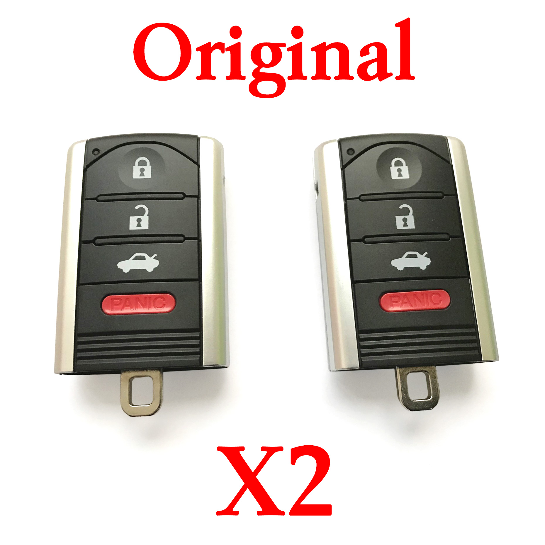 2 pieces Original 313.8 MHz 3+1 Buttons Smarrt Key for 2013-2015 Acura ILX - KR5434760 ( Driver 1 & Driver 2) (OEM)