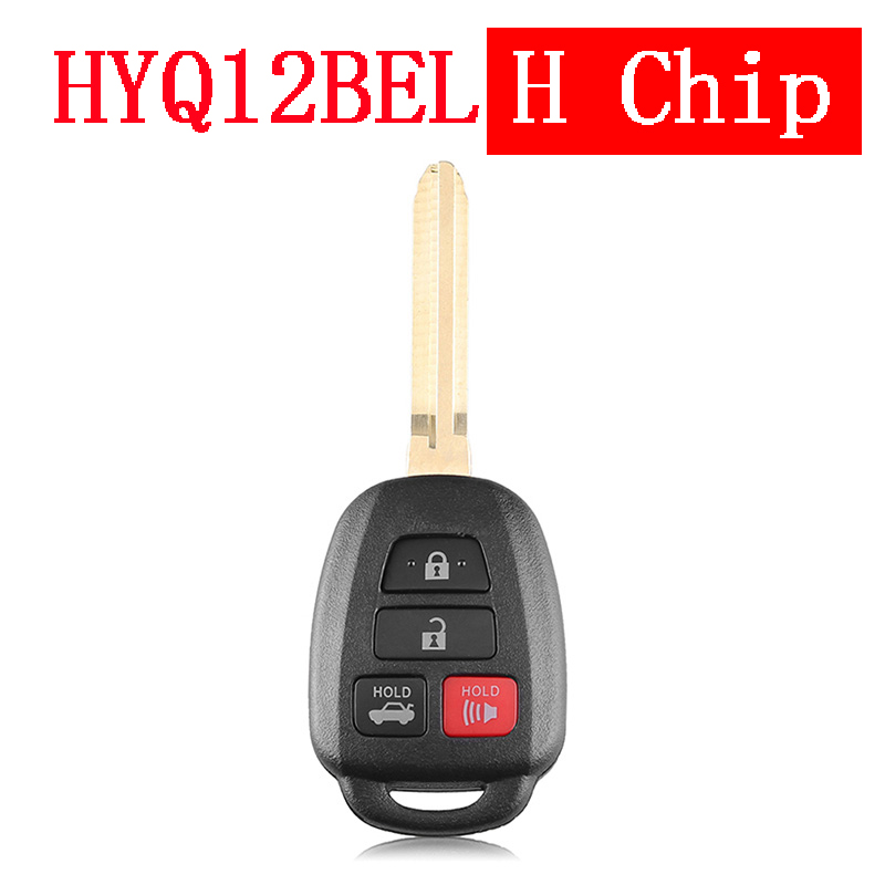 3+1 Button 315 MHz Remote Key for Toyota Camry Corolla 2014 - 2017 HYQ12BEL With H Chip