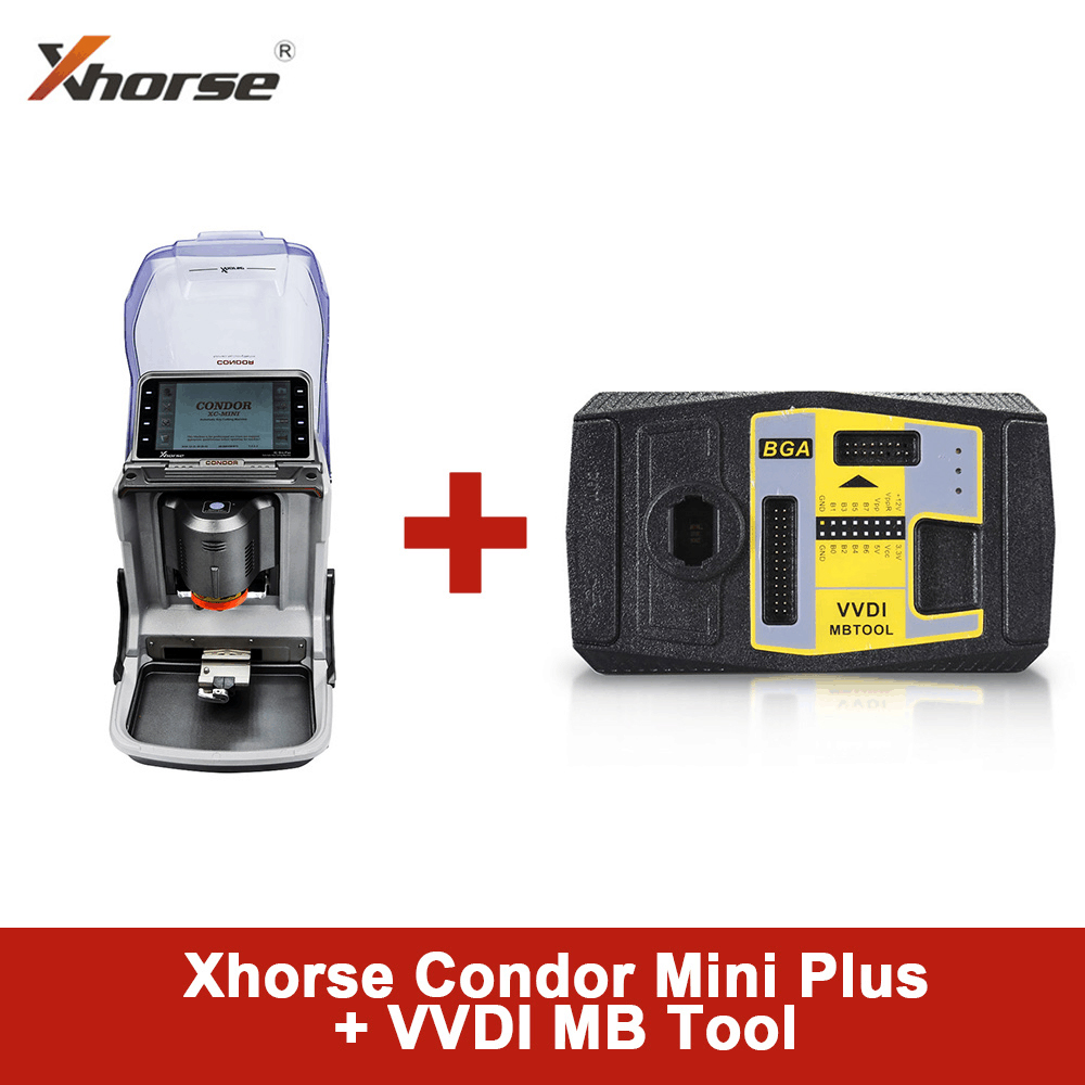 Xhorse Condor MINI Plus Cutting Machine with VVDI MB Tool Key Programmer Get 1 Year Unlimited Token Service