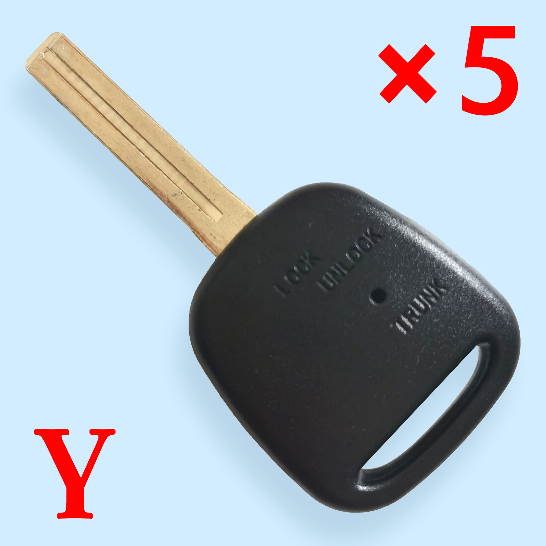 Remote key shell with Double hole on the side TOY48 blade short blade for Toyota   5pcs