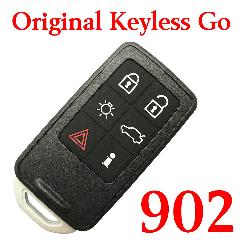 Original 5+1 Buttons 902 MHz Smart Proximity Key for Volvo S60 V60 XC60 S80 - Keyless Go