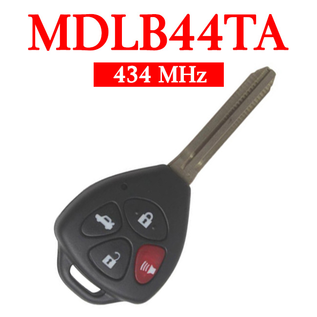 3+1 Buttons 434 MHz Remote Head Key for Toyota Hilux with 4D67 Chip (Australia) - MDLB44TA
