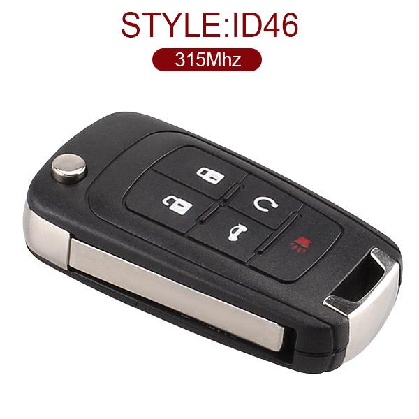 4+1 Buttons 315 MHz Flip Proximity Keyless Go Key for Buick Lacrosse Regal 2010-2014