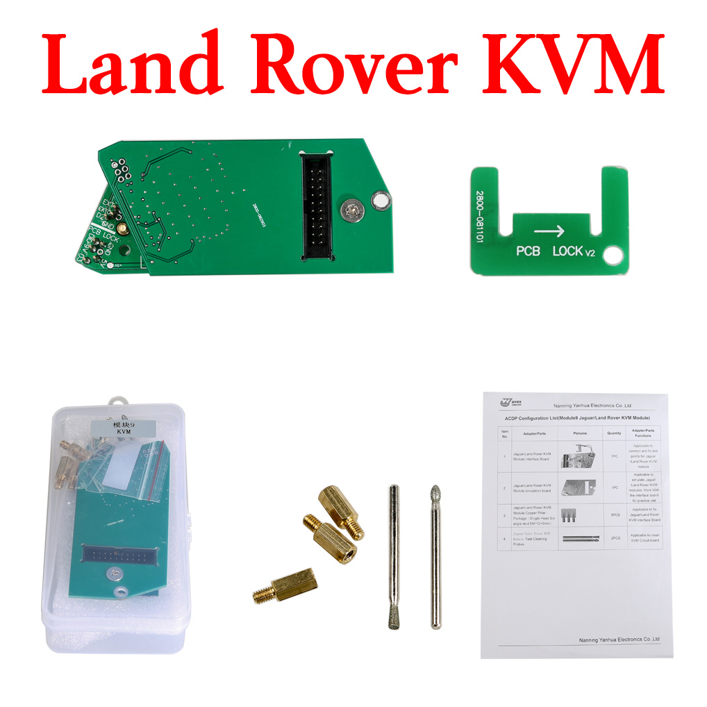 Yanhua Mini ACDP Module 9 - Land Rover Key Programming Support KVM from 2014-2018 Add Key & All Key Lost