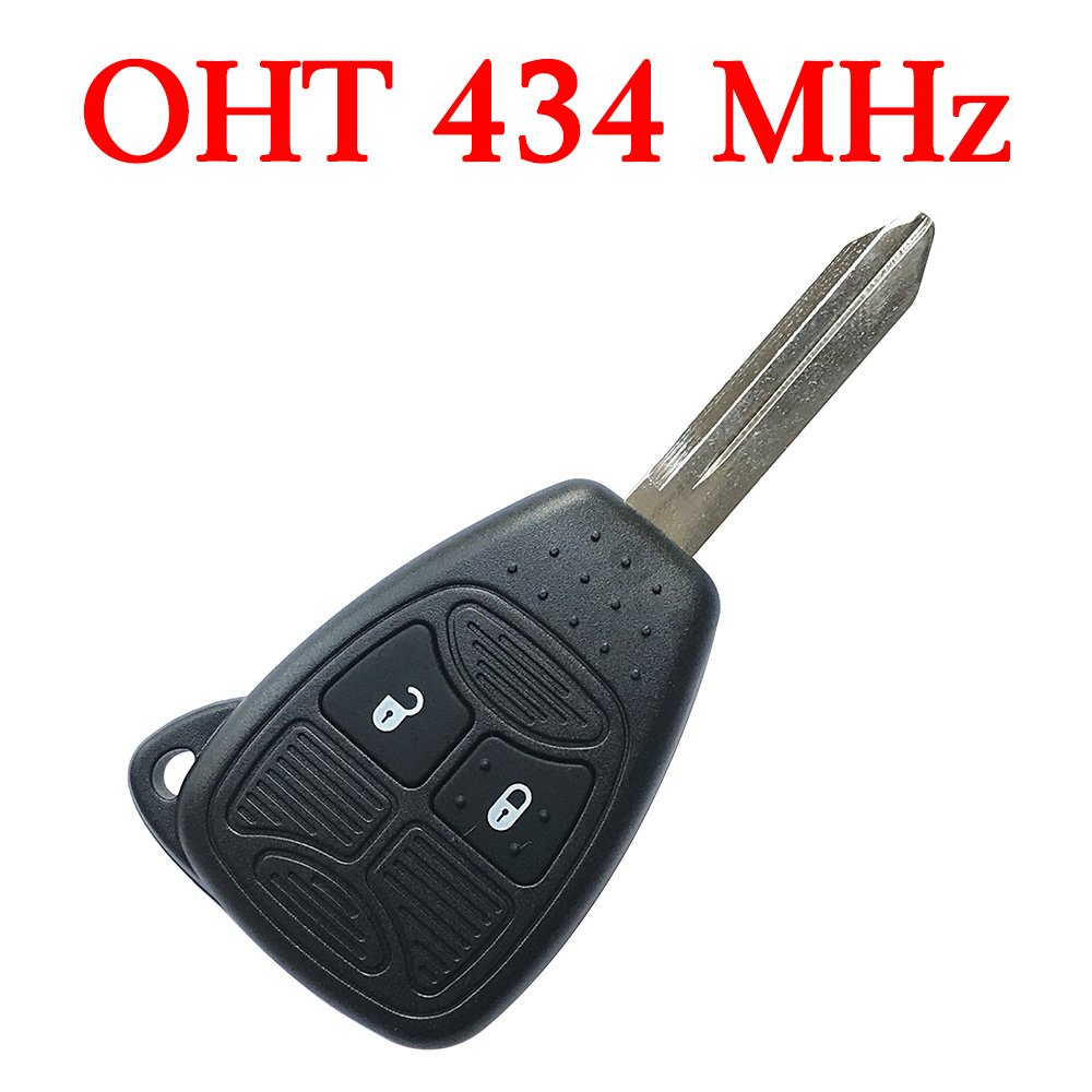 2 Button 433 MHz Remote Key with ID46 Chip for Chrysler Dodge Jeep - OHT692427AA