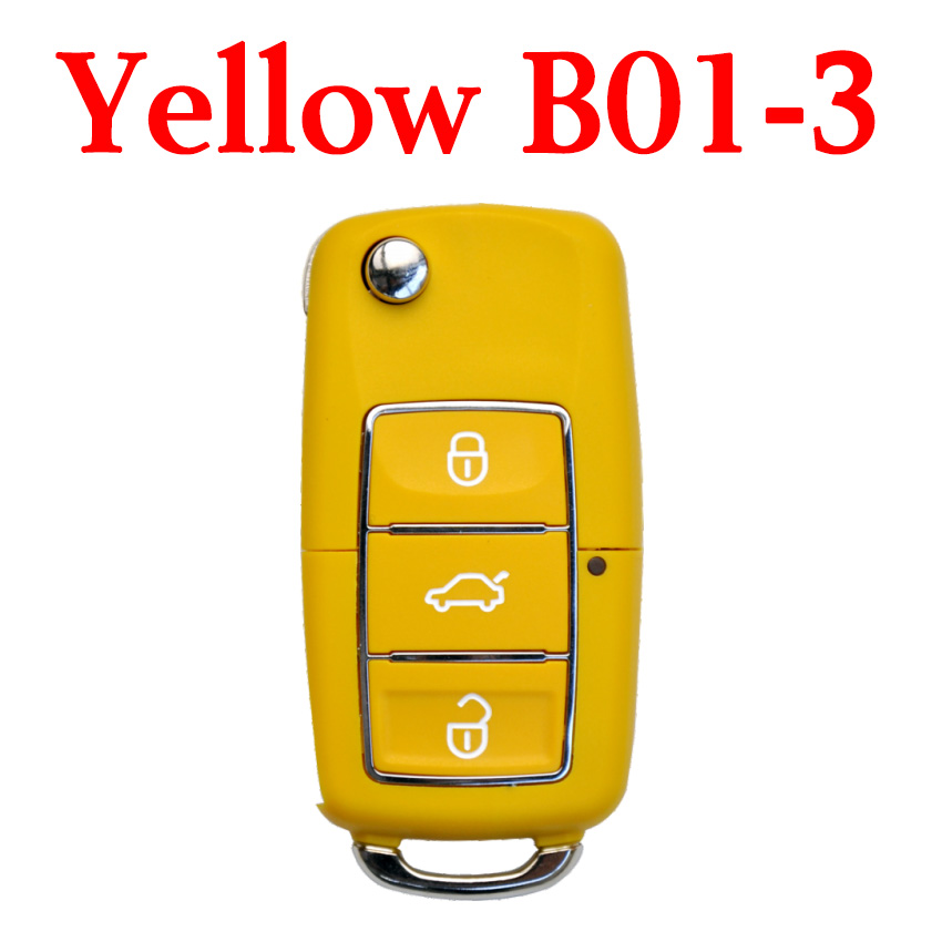 KEYDIY B01-3 Luxury Yellow Universal Remote Control - 5 pcs