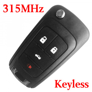 315 MHz 3+1 Buttons Flip Remote Key for 2010-2017 Chevrolet Camaro Cruz Equinox Impala Malibu Sonic