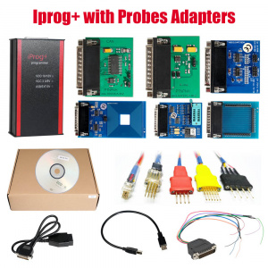 V85 Iprog+ Pro Programmer with Probes Adapters for in-circuit ECU