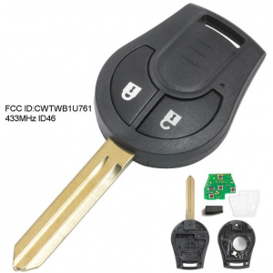 434 MHz 2 Buttons Remote Head Key for Nissan Micra K14 2010-2018 - CWTWB1U761