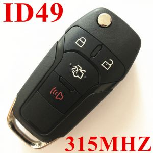 3+1 Buttons 315 MHz  Flip Remote Key for Ford ID49
