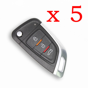 5 Pieces Xhorse Wire Flip Remote Key Knife Style 3 Buttons XKKF02EN