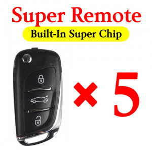 Xhorse Super Remote Comes with Built-In Super Chip - 5 pcs / pack