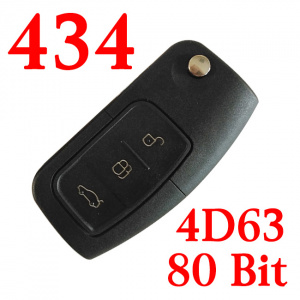 3 Buttons 433MHz Ford Remote Key with 4D63 80 bit Chip