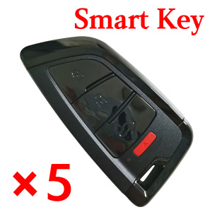 Xhorse Universal Smart Remote Key Knife Style 4 Buttons XSKF21EN - 5 pcs