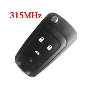 315 MHz 3+1 Buttons Flip Remote Key for 2010-2017 Chevrolet Camaro Cruz Equinox Impala Malibu Sonic