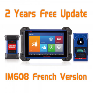Original Autel OtoSys IM608 Advanced IMMO & Key Programming & ECU Coding Scanner - French Version - With 2 Years Free Online Update