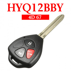 2+1 Buttons 315 MHz Remote Head Key for Toyota RAV4 Yaris Scion 2006-2013 - HYQ12BBY (4D 67 Chip)