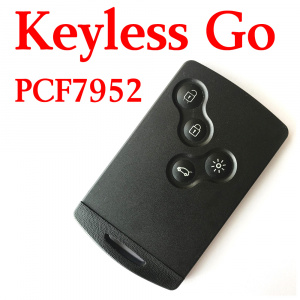 4 Buttons 434 MHz Smart Proximity Card for Renault Koleos Fluence Kongo