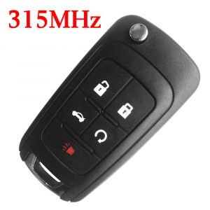 4+1 Buttons 315 MHz Flip Remote Key for Chevrolet