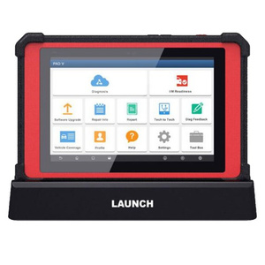 Launch X431 PAD V with SmartBox 3.0 Automotive Diagnostic Tool Support Online Coding and Programming 1 Year Free Update No IP Limitation