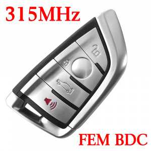 315 MHz Smart Proximity Key for 2014~2018 BMW X5 X6 - FEM BDC EWS5 System - PCF7953