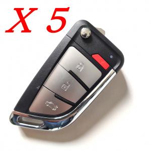 Xhorse VVDI Universal Wire Remote Key Knife Style - XKKF20EN - Pack of 5