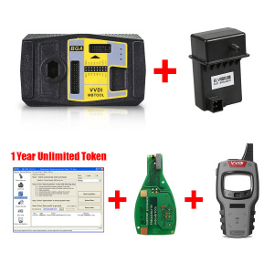 Xhorse V5.0.5 VVDI MB Tool Benz Key Programmer Get 1 Year Unlimited Token + Mini Key Tool + Xhorse Keyless Go PCB + ELV Simulator