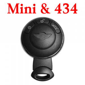 3 Buttons 434 Mhz Remote Key for Mini Cooper ID46 HiTag2 (PCF7945/7953)