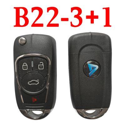 KEYDIY B22-3+1 KD Remote control - 5 pcs