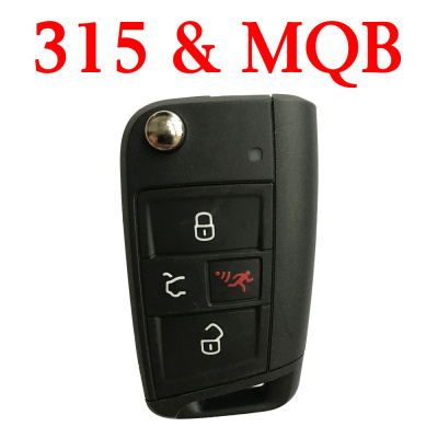 Original 3+1 Buttons 315 MHz MQB Flip Remote Key for VW