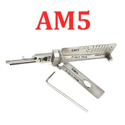 ORIGINAL LISHI - AM5 Tool / 2-in-1 / Padlock Pick & Decoder - AG
