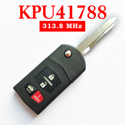 3+1 Buttons 313.8 MHz Flip Remote Key for Mazda 6 / RX8 2004-2011 - KPU41788