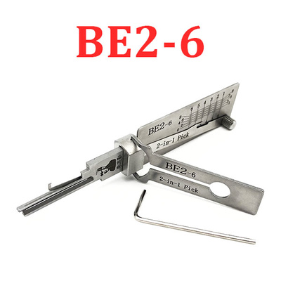 Original Lishi - BE2-6 BEST A / 6-Pin / 2-in-1 Residential Tool / AG