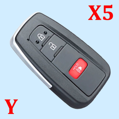 ( Type 9 ) 2+1 Buttons Smart Key Shell for Toyota - Pack of 5