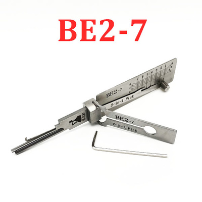 Original Lishi - BE2-7 BEST A / 7-Pin / 2-in1 Residential Tool / AG